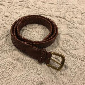 XL Talbots Brown Leather Belt